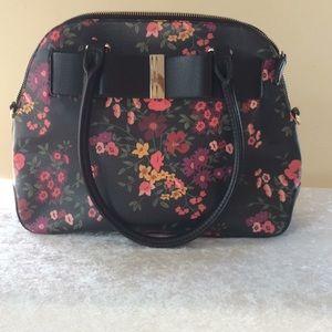 Apt 9 Black and Floral Bag